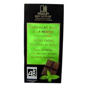 Chocolat noir à la menthe